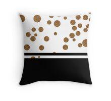 Glitz - Black & White Throw Pillow