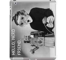 Friendly Robot and Nerd iPad Case/Skin