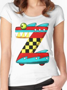 """Introducing the letter """"Zomega"""" Women's Fitted Scoop T-Shirt"""
