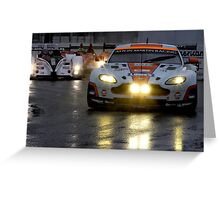 Race In The Rain Greeting Card