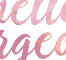 Hello Gorgeous in Pink Watercolor Sticker