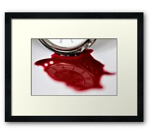 Times bloody reflection  Framed Print