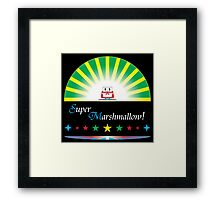 Super Marshmallow! (white text) Framed Print