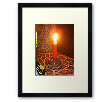 Burning Bright (in a hookah bar in Granada) Framed Print