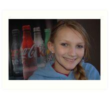 A Coke and A Smile Art Print