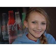 A Coke and A Smile Photographic Print