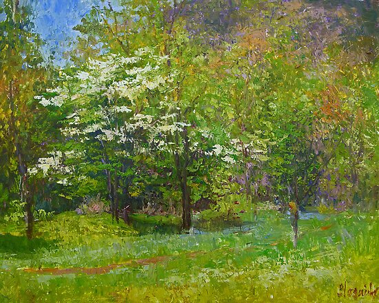 Spring blossoms by Julia Lesnichy