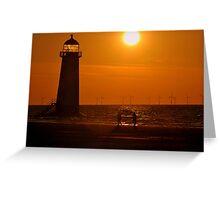 Sunset Shoreline at Talacre North Wales Greeting Card