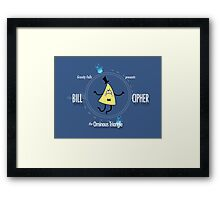 Bill Cipher the Ominous Triangle Framed Print