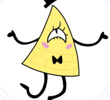 Bill Cipher the Ominous Triangle Sticker