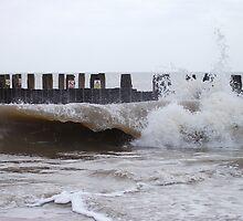 Waves By The Groyne 3 by DCLehnsherr