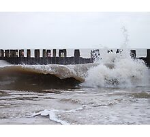 Waves By The Groyne 3 Photographic Print