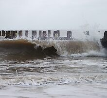 Waves By The Groyne 4 by DCLehnsherr