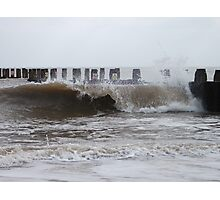 Waves By The Groyne 4 Photographic Print