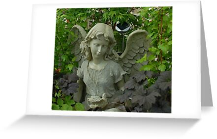Garden Angel and Dove by Marjorie Wallace