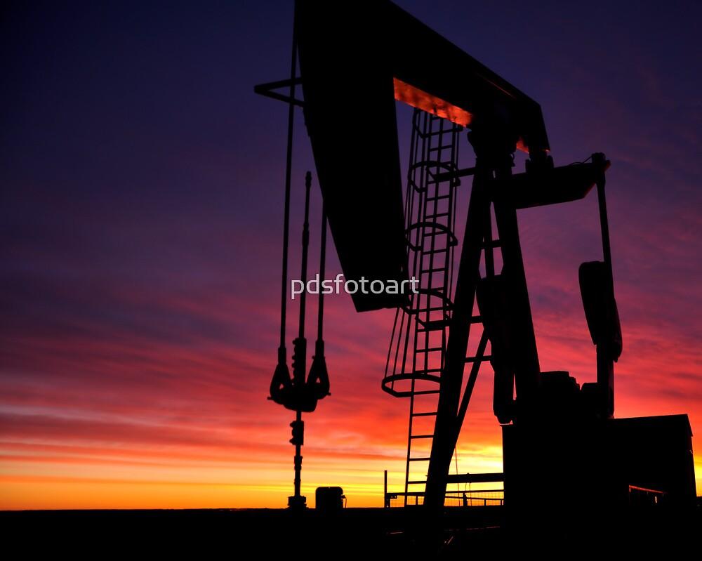 Bakken oil well. by pdsfotoart