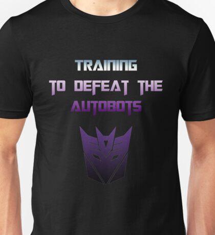 Training to Defeat the Autobots Unisex T-Shirt