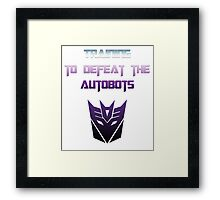 Training to Defeat the Autobots Framed Print