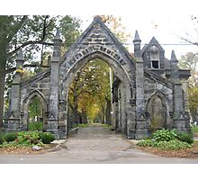 Gothic Gates of Monroe Cemetery  Photographic Print