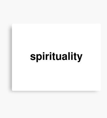 spirituality Canvas Print