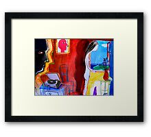 all she knows is all she is Framed Print