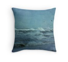 Wild Blue - High Surf - Outer Banks Throw Pillow