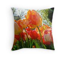 Parrot Tulips in Philadelphia Throw Pillow