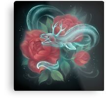 Ghost eel and roses Metal Print