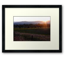 Farmland Sundown II Framed Print