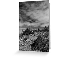Black & White Hill Top Greeting Card