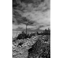 Black & White Hill Top Photographic Print