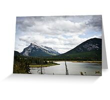 Mount Rundle Landscape Greeting Card