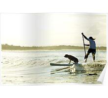 Dog Surf Poster