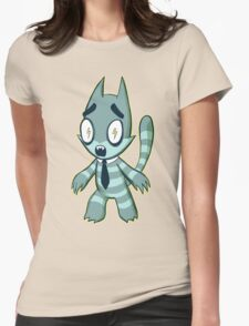 Spikey Cat Womens Fitted T-Shirt