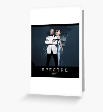 007 spectre bond and girl Greeting Card