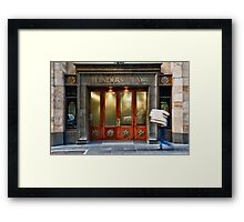 Walking Down the Street Framed Print