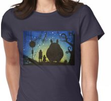 Small Spirits (Totoro) Womens Fitted T-Shirt