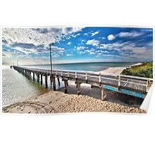 Seaford Pier Victoria, Mornington Peninsula, Australia, Seascape Poster