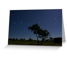 Glasshouse Mountains Startrails Greeting Card