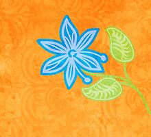 Blue Flower by evisionarts