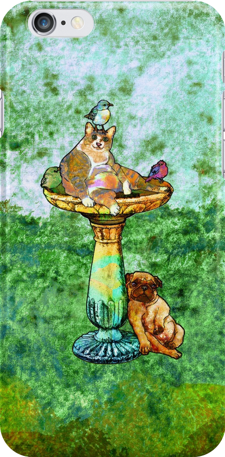 Fat Cat and Pug by evisionarts