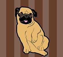 Sweetie Pug by evisionarts