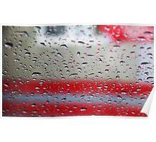 rain. windshield Poster
