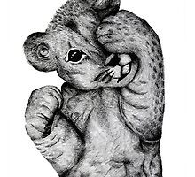 Cheeky Lion Cub by Bekyy Stuart