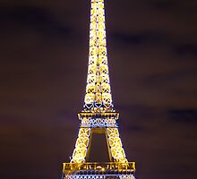 The Lights of the Eiffel Tower by David Mace-Kaff