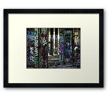 Graffiti Forest Framed Print