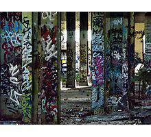 Graffiti Forest Photographic Print