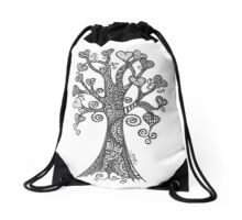Love Leaves Drawstring Bag