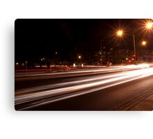 Night-time streetscape Canvas Print