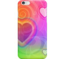rainbow heart and spiral iPhone Case/Skin